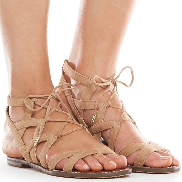 871c2130de1cb6 Sam Edelman Gemma Lace Up Sandal. M 5b98a49012cd4ac7c60a17db